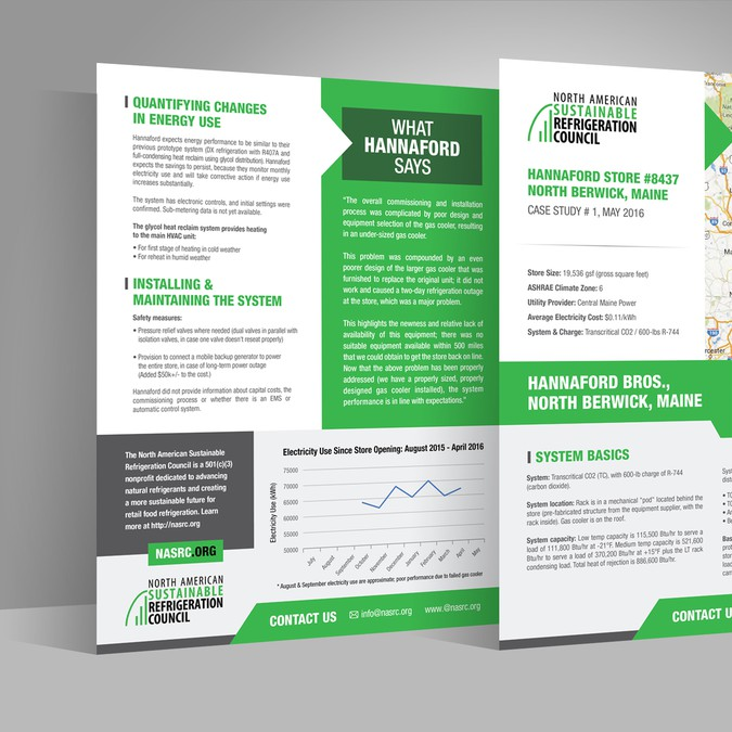 Case Study Template For Environmental Nonprofit Postcard Flyer Or