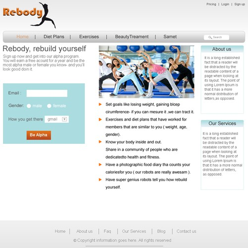 Runner-up design by infoweb