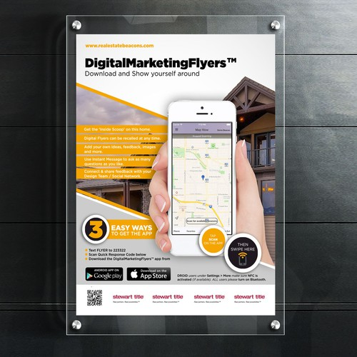 digital nfc marketing flyer ポスターコンペ