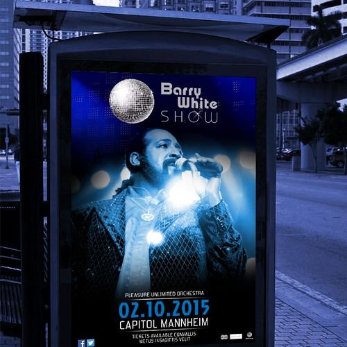 Concertposter spotlight on barry white poster ontwerpwedstrijd - Spotlight ontwerp ...