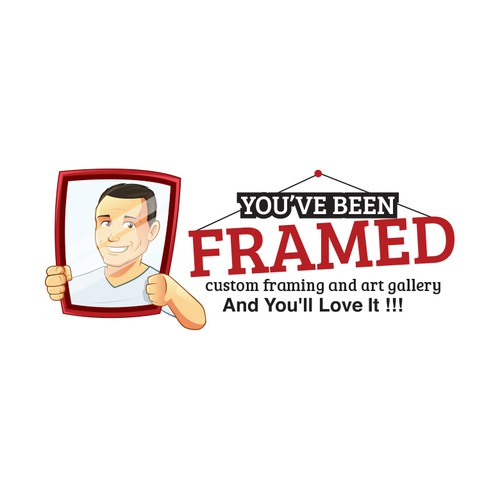 you\'ve been framed !!!! picture framing and art studio logo with the ...