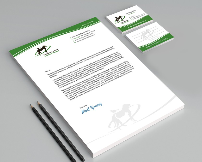 Create progressive design for letterhead and business card for ...