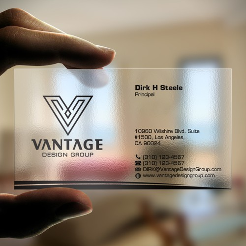 Vantage Design Group Modern Luxury Architectural Firm Wettbewerb In Der Kategorie Visitenkarte 99designs