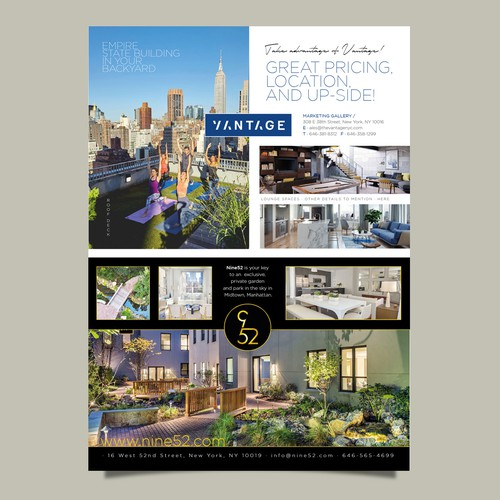 Design a Two Page Spread for the Biggest Real Estate Magazine in NY
