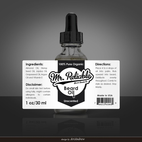 Create a product label for a beard oil bottle  | Product label contest