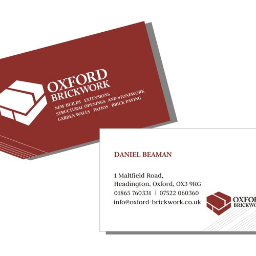 Oxford brickwork needs a new logo and business card logo runner up design by leitmotif reheart Choice Image