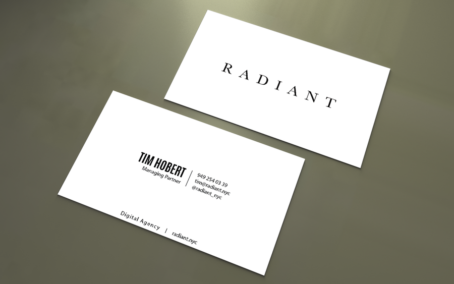 business cards for digital agency in nyc business card contest
