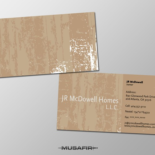 Runner-up design by Musafir