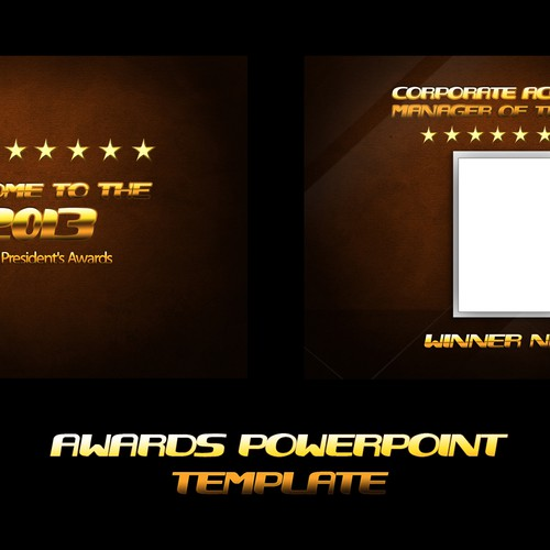 awards powerpoint template other business or advertising contest