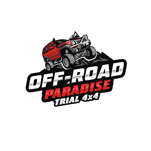 logo para juego de conducci243n 4x4 offroad logo design