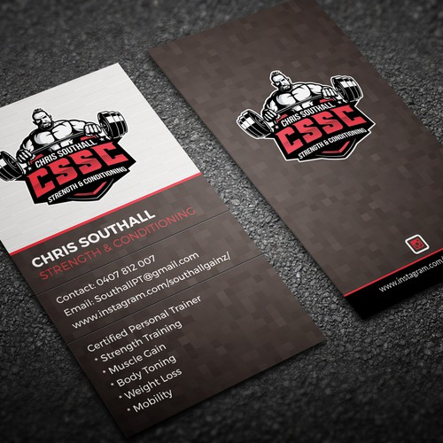 Personal training business card have logo business card contest runner up design by ohmega colourmoves