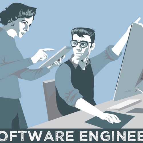 ISO: simple propaganda style vector illustration for new start up! Diseño de enodeer