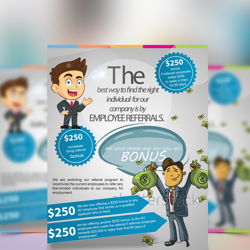 employee referral program flyer