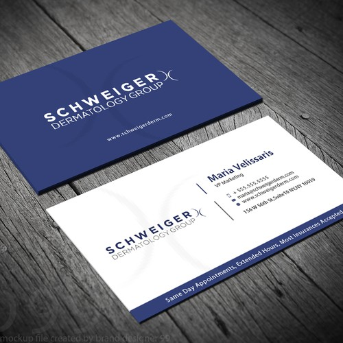 Design a luxury business card for the largest dermatology chain in runner up design by hs designer colourmoves