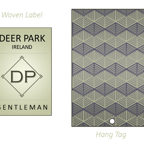 design a clothing label tag for classic menswear brand 商品