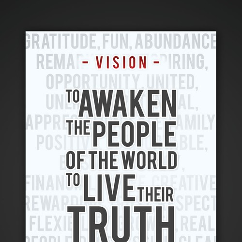 Live Your Truth Mission Statement Poster