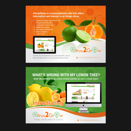 Citrus Site needs eye catching Promotional Post Card with zest and zing Ontwerp door magicball