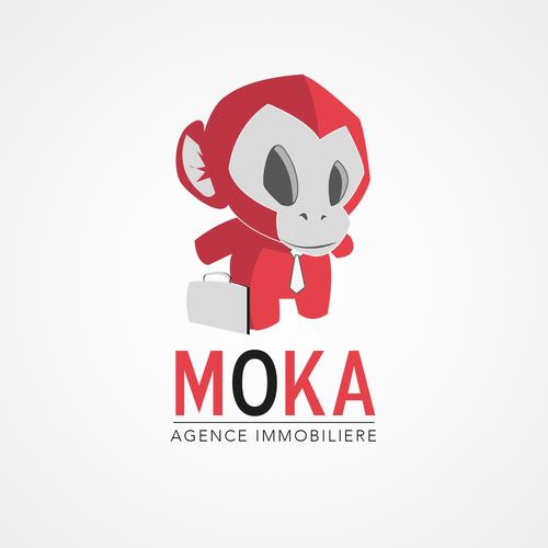 Logo et carte de visite pour l 39 agence immobiliere moka for Agence immobiliere 68