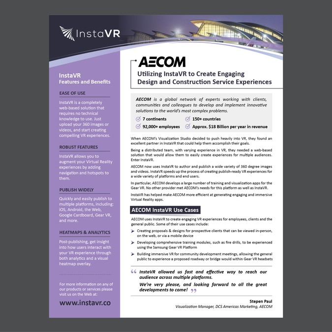 asap b2b saas product single page brochure design instavr