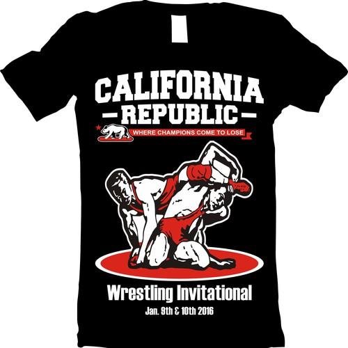 Create a high school wrestling tournament design for for High school wrestling t shirt designs