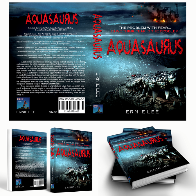 Book Cover Design Competition : Book cover design action thriller quot aquasaurus