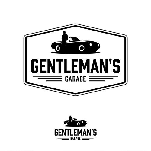 Classy Heritage Logo Design For The Gentleman's Garage