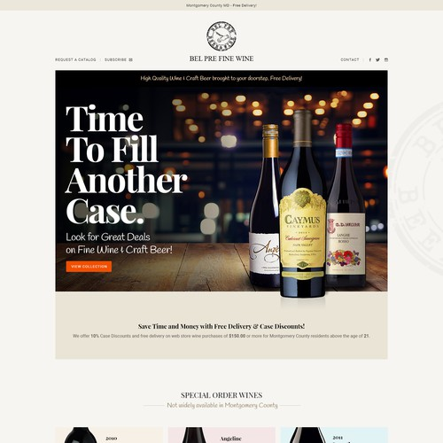 Fine wine craft beer webstore w delivery service needs for Best wine delivery service