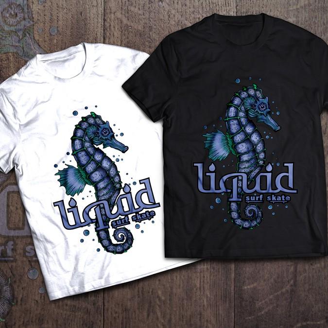 Liquid surf shop t shirt sea creature design t shirt for Surf shop tee shirts