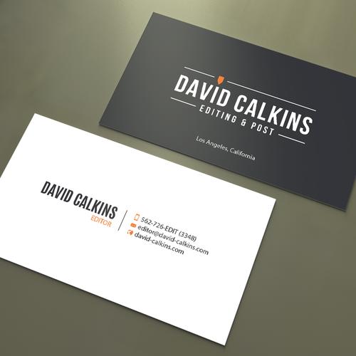 Business card for los angeles based video editor concurso carto design finalista por an designer reheart Gallery