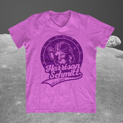Create an elementary school t-shirt design that includes an astronaut Design by zzzArt