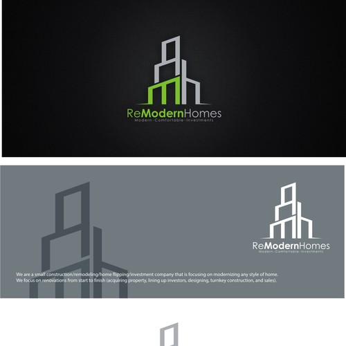 Create A Mid Century Modern Home Renovation Logo Logo