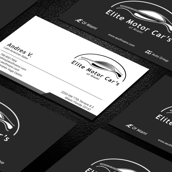 car dealership business cards needed 名刺コンペ
