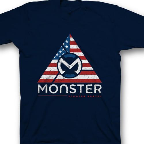 Creative shirt design needed for Monster Scooter Parts Design by saka.aleksandar