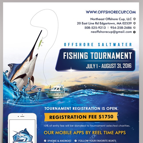Fishing tournament adflyer postcard flyer or print contest runner up design by 123graphics saigontimesfo