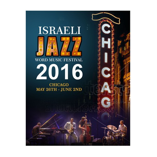 Israeli Jazz and World Music Festival Design by oedin_sarunai