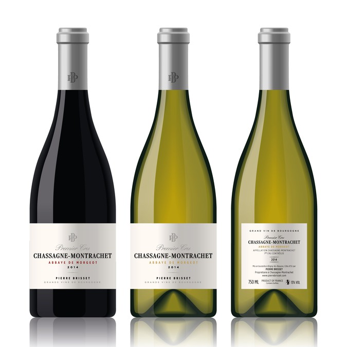 Elegant Logo And Wine Bottle Label Design For Premium French