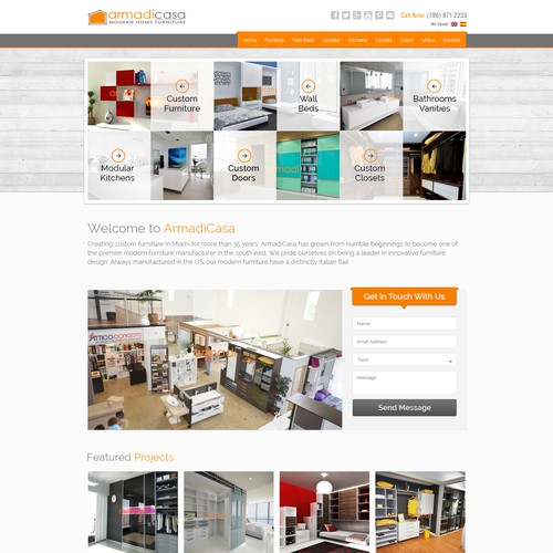 Furniture Web Sites: Custom Furniture / Modern Furniture Website