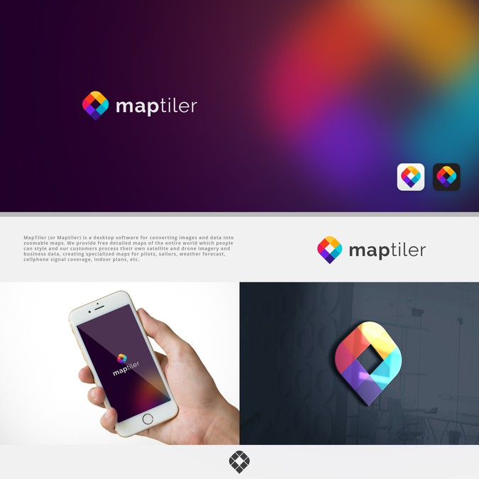 Design a modern simple colourful logo for a software for