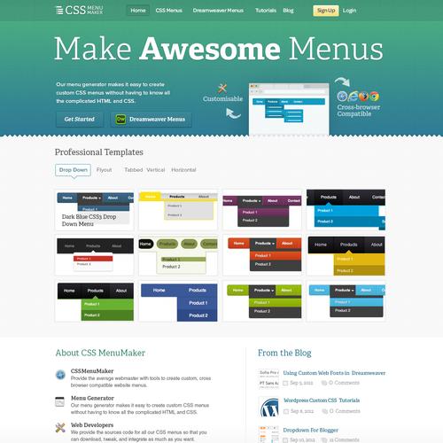 website design for CSS Menu Maker | Web page design contest