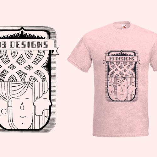 Create 99designs' Next Iconic Community T-shirt Design by Vladimir Sterjev