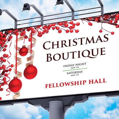 Create a Giant Banner for our Christmas Boutique | Signage