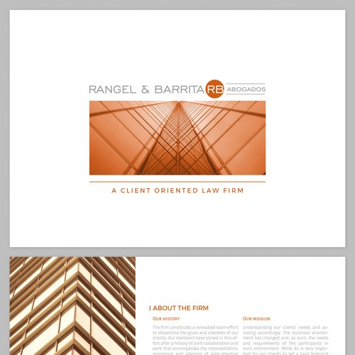 Digital Brochure for Boutique Law Firm   Broschüre Wettbewerb