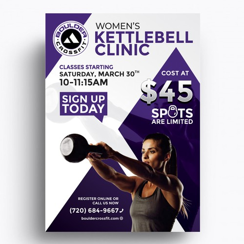 promotional flyer for Crossfit gym | Postcard, flyer or print contest