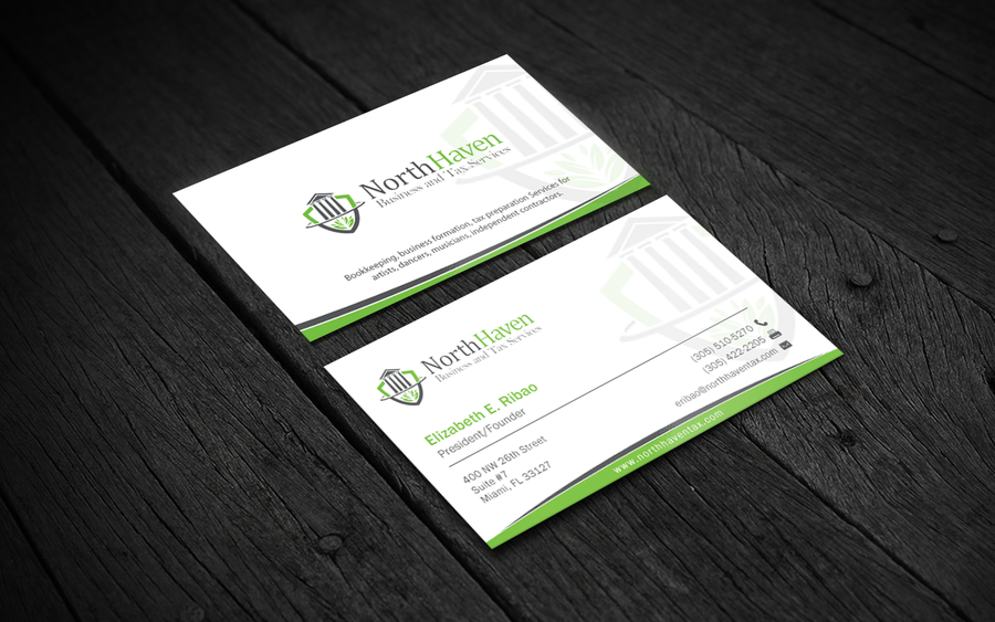 Create Business Card Design for Creative Tax Preparation ...