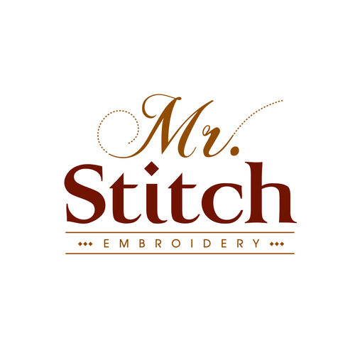 Mr Stitch Embroidery Logo Logo Design Contest