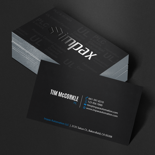 Create the business card that jumps off the conference room table runner up design by an designer reheart Images