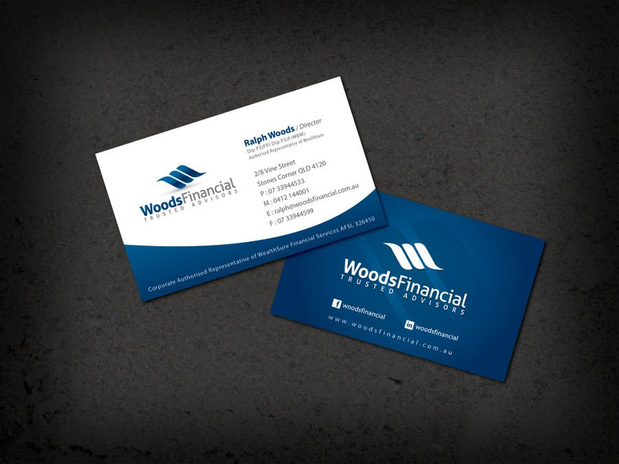 Help woods financial with a new logo and business card logo winning design by eudorna colourmoves
