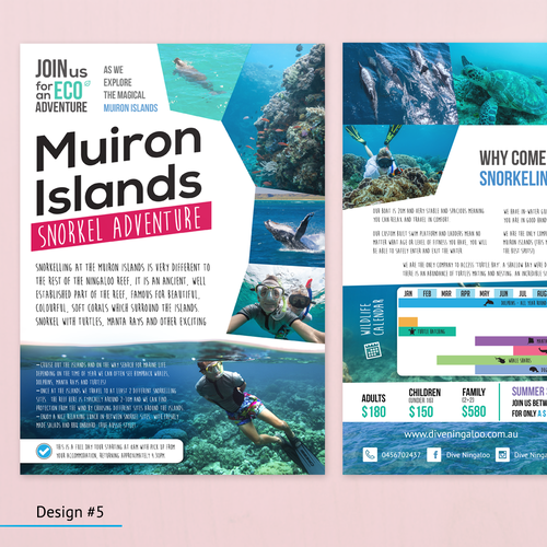 Design an eye catching flyer for snorkel tours on the Ningaloo Reef! Design by Edbertjunior