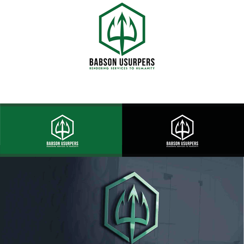 Create an inspiring trident logo for business for humanity