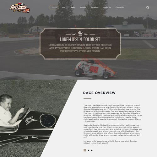 Runner-up design by webeezine